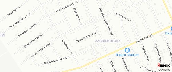 Демидовская улица на карте Старого Оскола с номерами домов