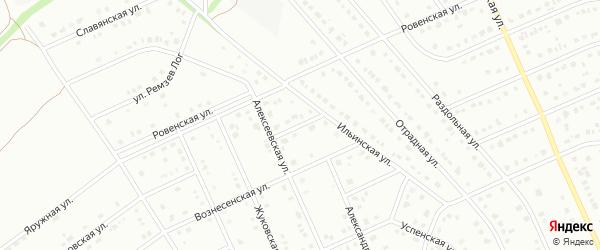 Алексеевский переулок на карте Старого Оскола с номерами домов
