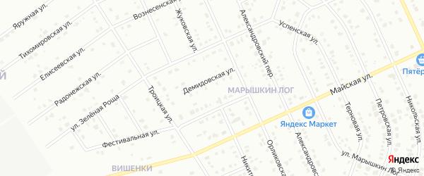 Никитский переулок на карте Старого Оскола с номерами домов