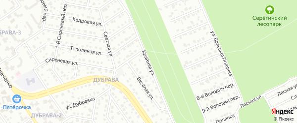 Крайняя улица на карте Старого Оскола с номерами домов