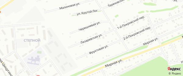 Лазаревская улица на карте Старого Оскола с номерами домов