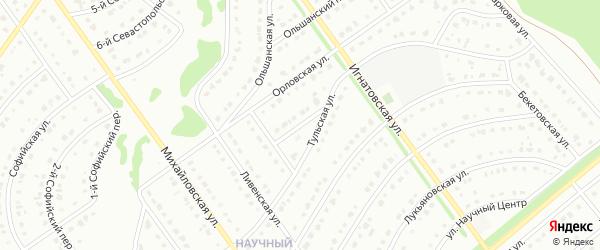 Тульский переулок на карте Старого Оскола с номерами домов