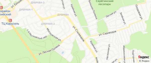 СТ Лесная Поляна на карте Старого Оскола с номерами домов