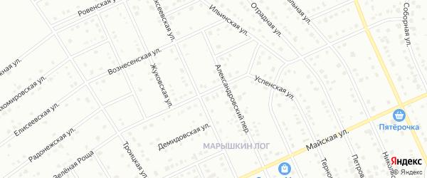 Успенская улица на карте Старого Оскола с номерами домов