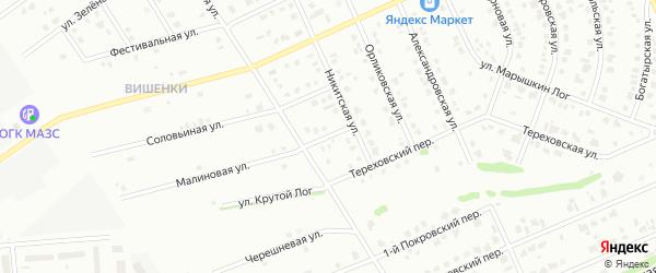 4-й Троицкий переулок на карте Старого Оскола с номерами домов