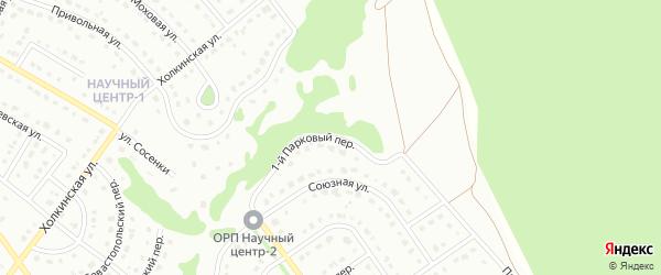 1-й Парковый переулок на карте Старого Оскола с номерами домов