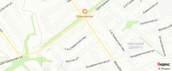 1-й Северский переулок на карте Старого Оскола с номерами домов