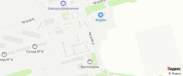 Площадка Складская проезд М-3 на карте станции Котла промузла с номерами домов