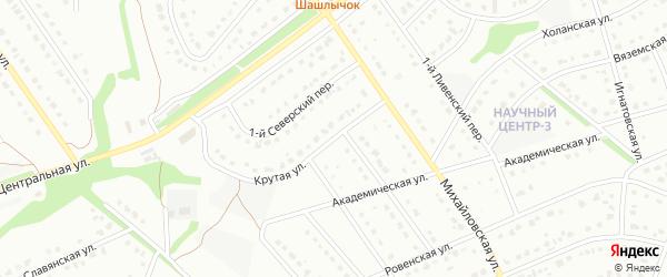 Крутая улица на карте Старого Оскола с номерами домов