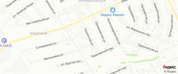 Никитская улица на карте Старого Оскола с номерами домов