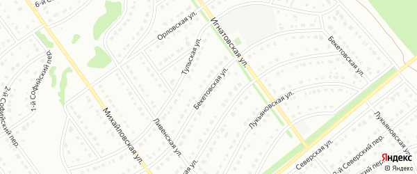 Бекетовская улица на карте Старого Оскола с номерами домов