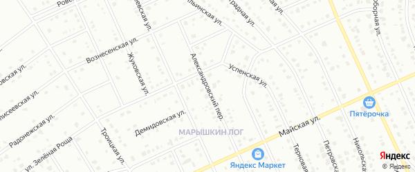 Александровский переулок на карте Старого Оскола с номерами домов