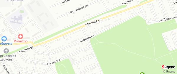 Верхняя улица на карте Старого Оскола с номерами домов