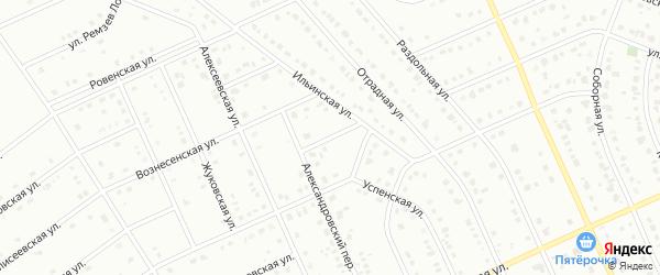 1-й Ильинский переулок на карте Старого Оскола с номерами домов