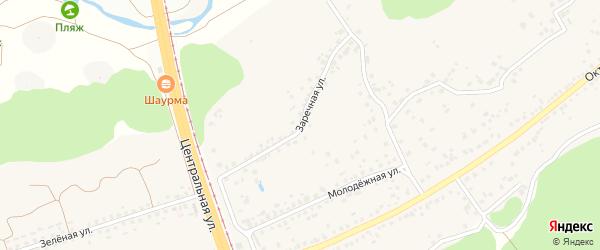 Заречная улица на карте села Незнамово с номерами домов