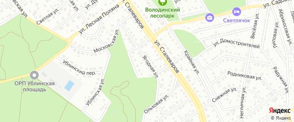 Ягодная улица на карте Старого Оскола с номерами домов
