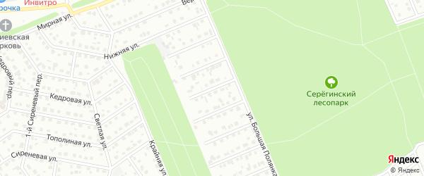 Переулок 3-й Володин на карте Старого Оскола с номерами домов