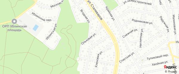 Ольховая улица на карте Старого Оскола с номерами домов