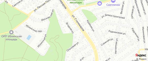 Переулок 1-й Сталеваров на карте Старого Оскола с номерами домов