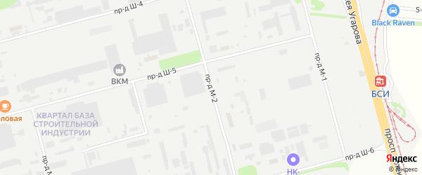 Площадка Монтажная проезд М-2 на карте станции Котла промузла с номерами домов