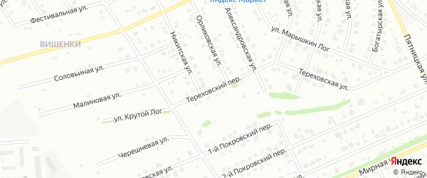 Тереховский переулок на карте Старого Оскола с номерами домов