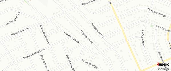 Отрадная улица на карте Старого Оскола с номерами домов