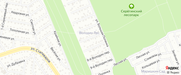 Переулок 6-й Володин на карте Старого Оскола с номерами домов