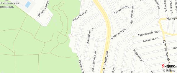 Кленовая улица на карте Старого Оскола с номерами домов