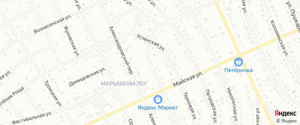 Переулок Марышкин Лог на карте Старого Оскола с номерами домов