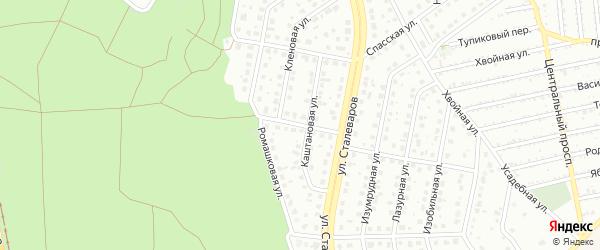 Каштановый переулок на карте Старого Оскола с номерами домов