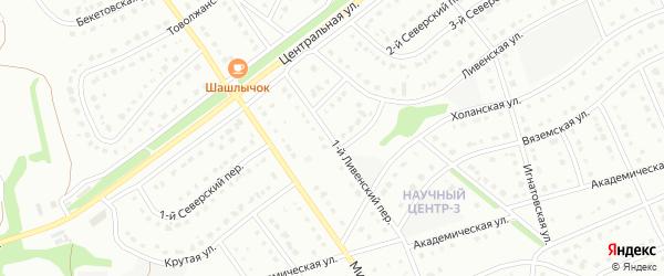 1-й Ливенский переулок на карте Старого Оскола с номерами домов