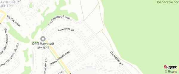 2-й Парковый переулок на карте Старого Оскола с номерами домов