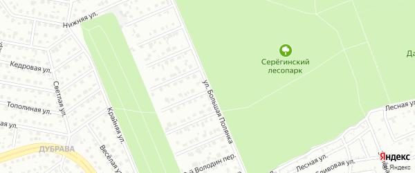 Улица Большая полянка на карте Старого Оскола с номерами домов