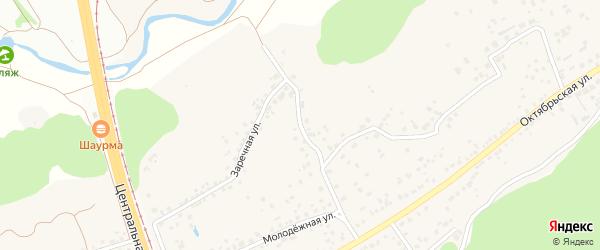 Молодежная улица на карте села Незнамово с номерами домов