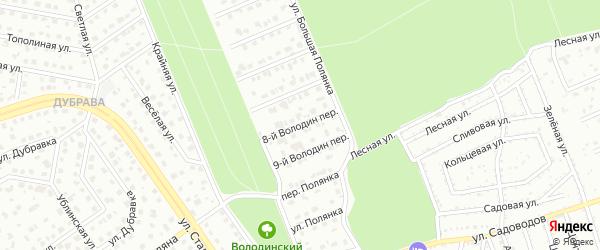 Переулок 8-й Володин на карте Старого Оскола с номерами домов