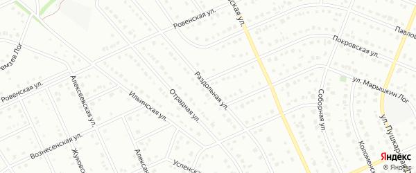 Раздольная улица на карте Старого Оскола с номерами домов
