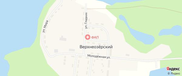 Улица Гладких на карте Верхнеозерского поселка с номерами домов