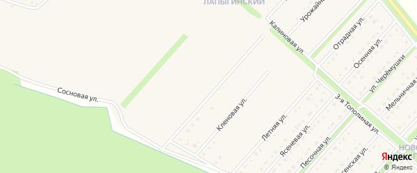 Ракитная улица на карте Новокладового села с номерами домов