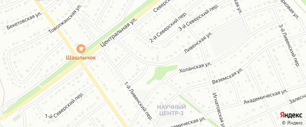 Ливенская улица на карте Старого Оскола с номерами домов