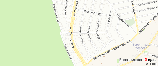 Ромашковая улица на карте Старого Оскола с номерами домов