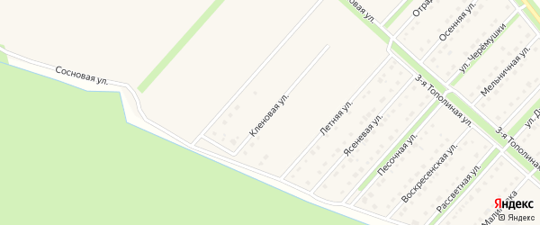 Кленовая улица на карте Новокладового села с номерами домов