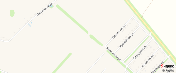 Калиновая улица на карте Новокладового села с номерами домов