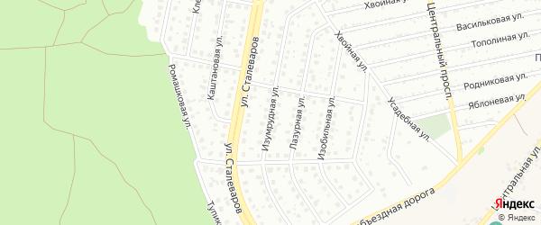 Изумрудная улица на карте Старого Оскола с номерами домов