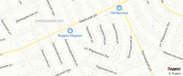 Терновая улица на карте Старого Оскола с номерами домов