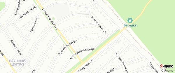 Лукьяновская улица на карте Старого Оскола с номерами домов