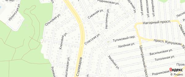 Спасская улица на карте Старого Оскола с номерами домов