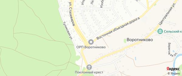 Тупиковая улица на карте Старого Оскола с номерами домов