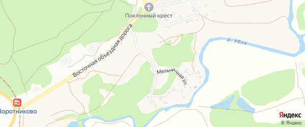 Мельничная улица на карте села Воротниково с номерами домов