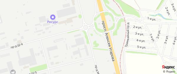 Площадка Строительная проезд М-1 на карте станции Котла промузла с номерами домов