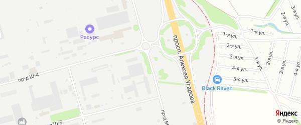 Площадка Монтажная проезд М-1 на карте станции Котла промузла с номерами домов
